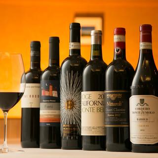 遅い時間に美味しいワイン一杯とアラカルトや食後酒でのご利用も