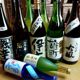 地酒(岡山の日本酒)を各種ご用意