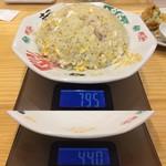 手打ちラーメン 本丸 - 「チャーハン」600円(税込)総重量(実測値)355g。