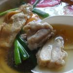 藪そば - 「なべ焼うどん」鶏肉