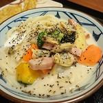 丸亀製麺 - 期間限定クラムチャウダーうどん並690円