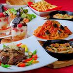 ジュリアーノ - 牛さがり肉ステーキとパフェ付シェアコース