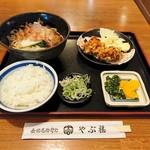 やぶ福 - きしめん定食 756円