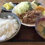 さかさ食堂 - 焼肉定食(生姜:ご飯少な目) 900円