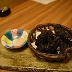 博多 表邸 - イカの天ぷら