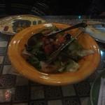 アラビアレストラン ゼノビア - ザクロとオリーブなどのサラダ