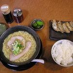 麺やながしろ - ギョーザ定食(元味)[\900]