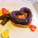 タヴェルナ グイダ - 紫芋のピューレと彩野菜を添えて!