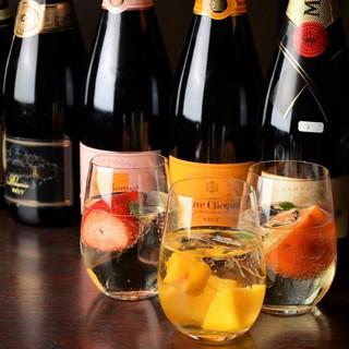 【シャンパン】きめ細やかな泡を楽しむ♪