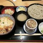 平沼 田中屋 - 『かつ丼セット』1,350円+「きざみ鴨汁」400円に変更