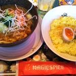 マジックスパイス - チキンのスープカレー1000円に味ごっち140円♡辛さは瞑想100円=1240円