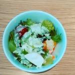 グリーン グリル - ロマネスコ入りサラダ。