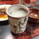 水だき 萬治郎 - お鍋のスープをそのまま頂きます。