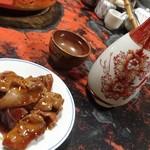 水だき 萬治郎 - まずは肝と日本酒