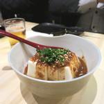 居酒屋 釣り人 - 特製ラー油豆腐