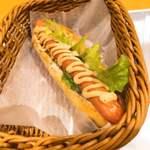 カフェデンマルク - 野菜入りホットドックセット 390円