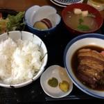 和食処 長瀧 - 三元豚の角煮定食(柚子胡椒がぴったり!)980円