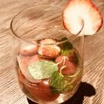 チャヤマクロビ - 苺のスパークリング