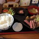 和食処 長瀧 - 黒毛和牛ステーキランチ1,380円