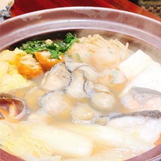 かき屋の牡蠣鍋!!2月2日より