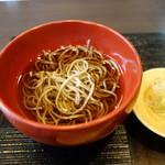 中村孝明貴賓館 - 食事:雪蔵蕎麦