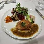79959757 - 【サービス・ランチ】(2160円税込)サービス料5%別メイン料理は肉。