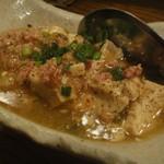 カモミンチと焼き豆腐の ゆずこしょうあんかけ400円