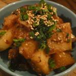カブと揚げサバの味噌煮和え360円