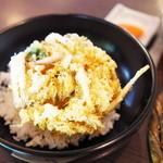 蕎麦見世のあみ - 白海老かき揚げ丼とミニ蕎麦
