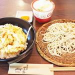 79964340 - 白海老かき揚げ丼とミニ蕎麦