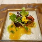 レジーナ イタリアーナ - 白身魚のバター焼き 梅肉入りアクアパッツァソース