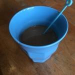 ぴかる - サービスのホットコーヒー(ミルク入れた)