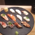 炙り創作鮨 すし蔵のはなれ - (おまかせ12貫 (税抜)1,000円2018.01.25)
