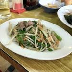 中華料理 しまむら - レバニラ炒め
