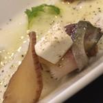 とろさば料理専門店 SABAR - いぶりがっこと燻製サバのクリームチーズ 、アップ