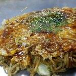 広島風お好み焼き さっちゃん - 野菜肉たまそばです
