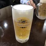 ちょもらんま - 冬でもキンキン!生ビール490円(税込)