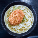 うどん ちょくし - 料理写真:コロッケうどん(かけ+コロッケ)