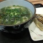 79977225 - 山菜うどん&ナスの天ぷら