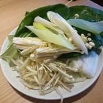 しゃぶ菜 - 野菜 1皿め