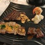 アラゴスタ - 料理写真:国産牛ロース肉・淡路えびすもち豚肩ロース肉・淡路鶏