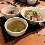 麺屋玉ぐすく - 【限定】あいち鴨つけ麺 ポルチーニご飯