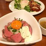 BISTRO KUON - ローストビーフ丼 ¥900