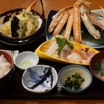 生け簀の甲羅 - 焼きガニ御膳3480円