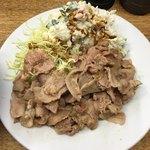 こづち - 味付豚肉定食 豚バラをすき焼き風に炒め煮したもの