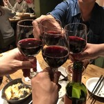 イタリア大衆食堂 堂島グラッチェ - 再度、ワインでも乾杯!