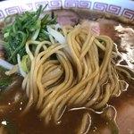 中華そば 焼めし かたぶつ食堂 - 麺アップ