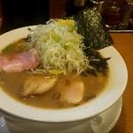 麺屋あした - 醤油白湯麺(並)バラノリ+ネギトッピング