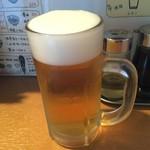 葱次郎 - 葱次郎 1杯目は生ビール400円