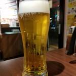 いきなり!ステーキ 虎ノ門店 - 生ビール(500円外税)